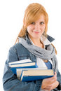 Student young woman hold book Royalty Free Stock Photography