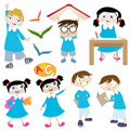 Students cartoon Royalty Free Stock Image