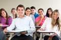 Students in class Royalty Free Stock Photo