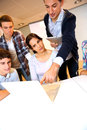 image photo : Students in class