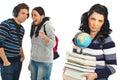 Students gossip and joke Stock Image