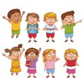Students kids cartoon
