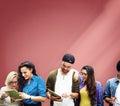 Students Learning Education Cheerful Social Media Royalty Free Stock Photo