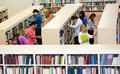Students at the library Royalty Free Stock Photo