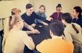 Students playing Mafia game Royalty Free Stock Photo