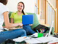 Students preparing reports for school Royalty Free Stock Photo