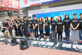 Students singing event for memorizing china tiananmen square protests of hong kong university the located in wan chai hong Royalty Free Stock Image