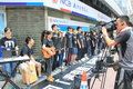 Students singing event for memorizing china tiananmen square protests of hong kong university the located in wan chai hong Stock Photo