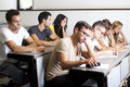 Students studying in class room group of Royalty Free Stock Photography