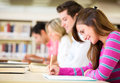 Students taking a test Royalty Free Stock Photo