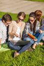 Students or teenagers with laptop computers Royalty Free Stock Photo