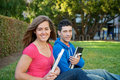 Students with Text books Royalty Free Stock Photo