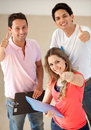 Students with thumbs-up Royalty Free Stock Image