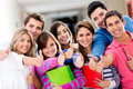 Students with thumbs up Royalty Free Stock Photo