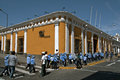 Students in Uniform with sun hats, Arequipa, Peru Royalty Free Stock Photo