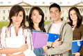 Students at university Stock Photography