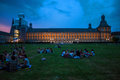 Students of university in bonn germany july sit front main building on july germany Stock Images