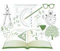 Studies symbols Stock Image