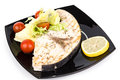 Studio closeup of grilled swordfish fillets Royalty Free Stock Photography
