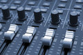 Studio Mixing Desk Royalty Free Stock Photography