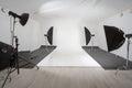 Studio with photographic equipment Royalty Free Stock Photo
