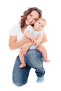 Studio picture of young mother and son Stock Photography