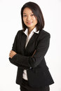 Studio Portrait Of Chinese Businesswoman Royalty Free Stock Photos