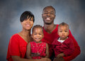Studio Portrait of Happy African American Family Royalty Free Stock Photo