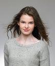 Studio Portrait Of Pretty Teenage Girl Royalty Free Stock Photo