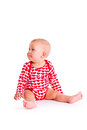 Studio shot of baby sit Royalty Free Stock Images