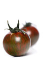 Studio shot of black tomato Royalty Free Stock Photo