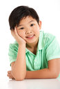 Studio Shot Of Chinese Boy Royalty Free Stock Image