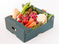 Studio Shot Of Fresh Produce In Box Royalty Free Stock Photo