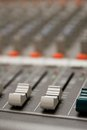 Studio sound mixer details Stock Photography
