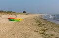 Studland knoll beach Dorset England UK pedalos Royalty Free Stock Photo