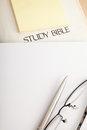Study Bible with notebook Royalty Free Stock Photos