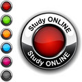 Study online button. Royalty Free Stock Photo