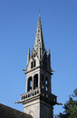 Study of ornate church steeple mellac brittany or spire france Stock Image