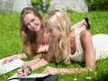 Study outdoors Royalty Free Stock Image