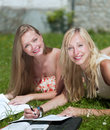 Study outdoors Royalty Free Stock Photography