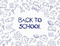 Study seamless pattern with school accessories