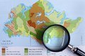 Studying geography contours concept Royalty Free Stock Photo
