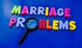 Studying marriage problems Royalty Free Stock Photo