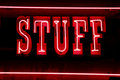 Stuff neon lights Stock Photography