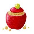 Stuffed apple