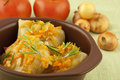 Stuffed cabbage with tomatoes Royalty Free Stock Image