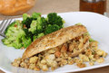 Stuffed Chicken Breast Dinner Royalty Free Stock Photo