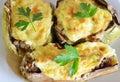 Stuffed eggplants Royalty Free Stock Photo