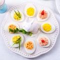 Stuffed eggs Royalty Free Stock Photo