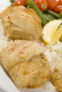 Stuffed fillet of sole Stock Image